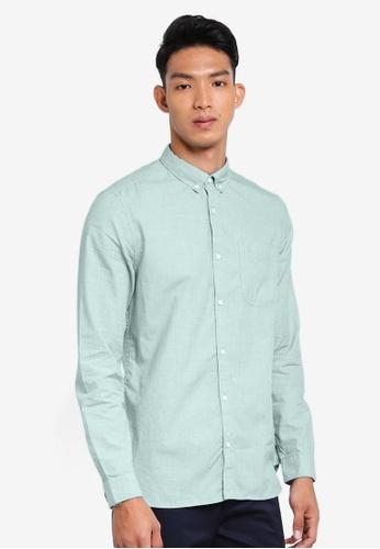 River Island 綠色 休閒長袖襯衫 E67FCAAE51A456GS_1