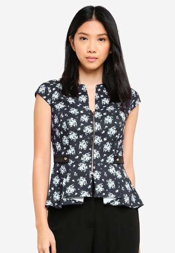 ZALORA black Origami Peplum Top 12096AA5238BFAGS_1
