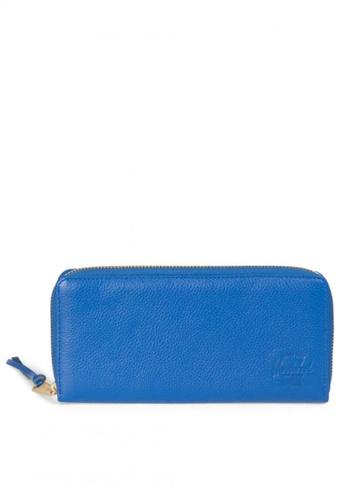Herschel blue Avenue Leather Wallet HE958AC0K9XAPH_1