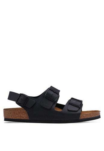 Birkenstock black Milano Birko-Flor Sandals 59CBBSH201AF1AGS_1