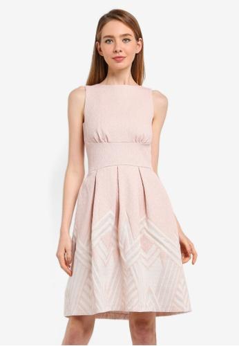 CLOSET pink Pleated Back Open Dress 89972AA3BE594CGS_1