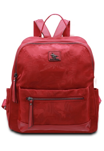 POLO HILL red POLO HILL Water Resistant Nylon Unisex Backpack 0832EAC0EA92A6GS_1