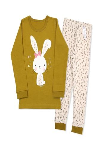 Organic mom brown Organic Girls Brown Homewear Casualwear Pajamas FE319KA40A5A31GS_1