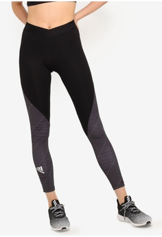 e22ad8fc adidas black adidas Alphaskin 7/8 Stripe Print Tights A0398AAADB91B9GS_1