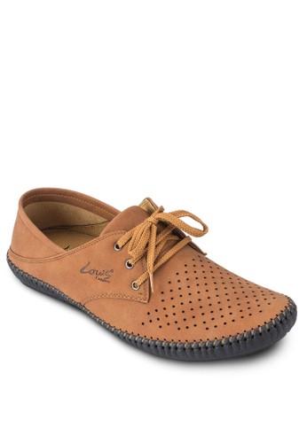 三眼繫zalora 手錶 評價帶沖孔正式感休閒鞋, 鞋, 休閒鞋