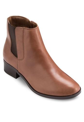切爾西皮革短靴, 女鞋, esprit tw鞋