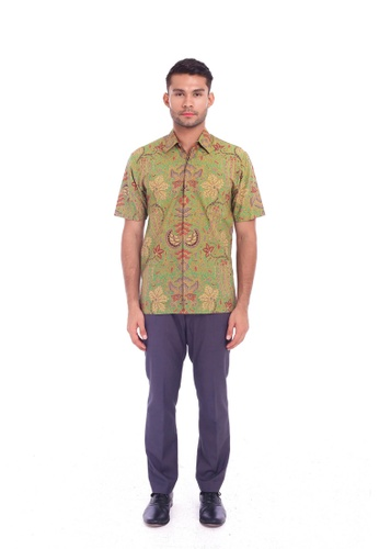 TUSCA green Eusoff Classic Batik Shirt 89D41AA0B5101AGS_1