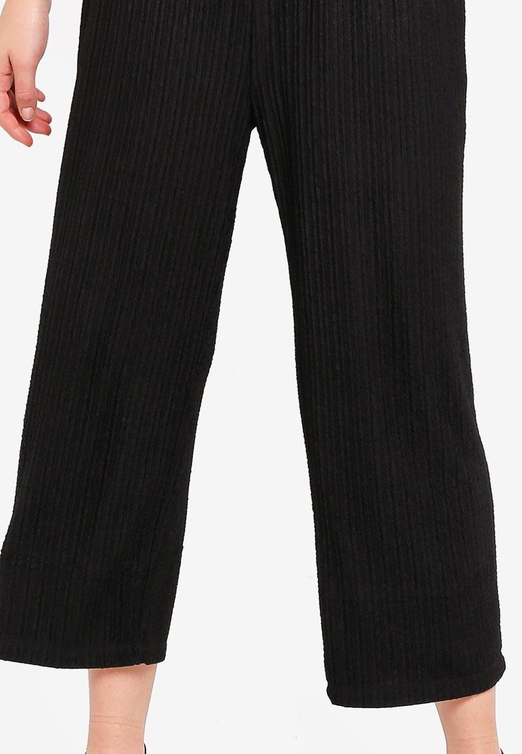 Black Textured Basic BASICS Culottes Relaxed ZALORA YfTqx