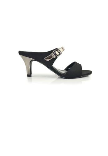 SHINE black Slip On Open Toe Sandals SH554SH0FDK9SG_1