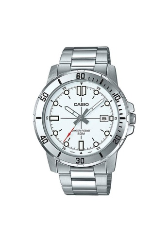 Casio silver CASIO GENERAL MTP-VD01D-7EVUDF SILVER STAINLESS STEEL MEN'S WATCH C7A02AC0C01993GS_1