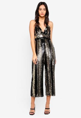 Bardot gold Goldie Jumpsuit A4F65AA899B2C2GS_1
