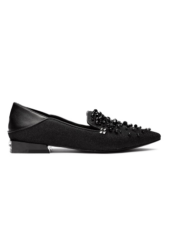Byford black Padin - Pointed Toe Paneled Flats 0492CSH371F7D3GS_1