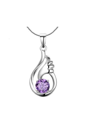 Elfi silver Elfi Genuine 925 Sterling Silver Necklace Pendant SP74 EL186AC0RWD8MY_1