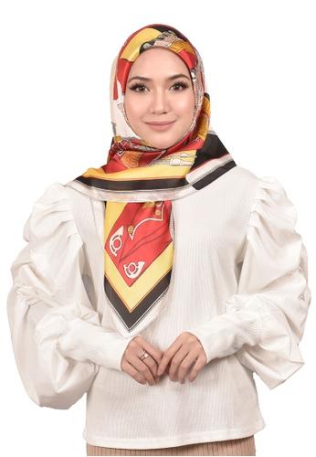 FATIMÉ multi Satin Square Hijab Rope (Red) 84252AA6DE309CGS_1