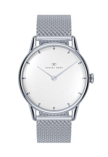 August Berg white Serenity Sky Blue Silver - Silver Mesh 32mm 8640CACA4D34A3GS_1