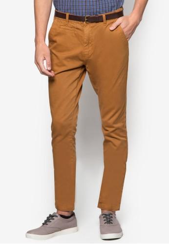 esprit hong kong 分店棉質貼身休閒長褲, 服飾, 窄管褲