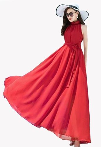Twenty Eight Shoes red VANSA Chiffon Maxi Dress  VCW-D0183 34360AA893AAFEGS_1
