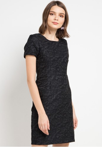 EPRISE black and multi Harlan Dress F288DAA49D730EGS_1