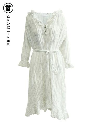Zimmermann white Pre-Loved zimmermann Stripe Cotton Midi Dress B65F6AAE9CEC89GS_1
