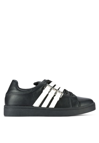 Something Borrowed black Buckle Lace Up Trainers 88BF9SH5D86CB6GS_1