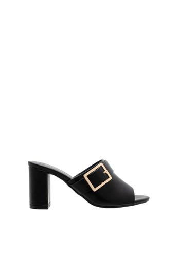 SEMBONIA black SEMBONIA Synthetic Leather Heeled Sandal (Black) E06F8SH9F2B51DGS_1