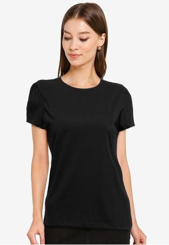Tolliver black Cap Sleeve T-Shirt EC793AA3C7AE61GS_1