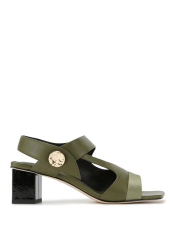 RABEANCO 綠色 RABEANCO SEYNA 粗跟涼鞋 - 墨綠色 08612SHD650AF8GS_1