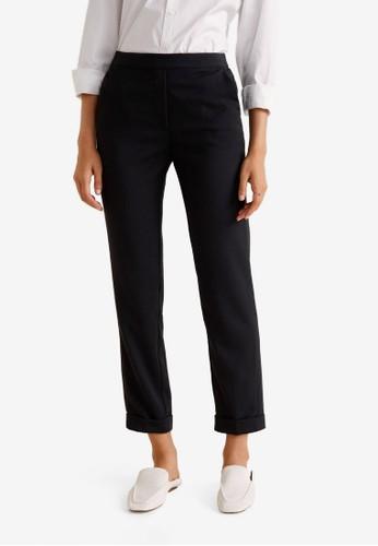 MANGO black Straight Trousers F737BAA64A5B28GS_1