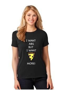Abs Vs Pizza T-Shirt