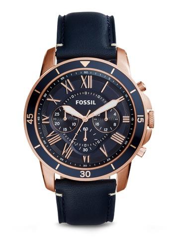 b975b1f34c3 Fossil blue Fossil Grant Sport Chronograph Blue Leather Watch FS5237  FO164AC84IIHMY 1