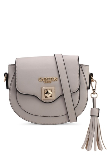 Carlton London grey Skyla Sling Bag 307D9AC50237CFGS_1