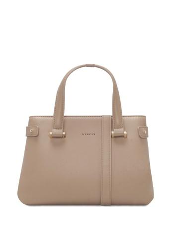 VINCCI brown Satchel Bag BFB5CACB8B0C5CGS_1