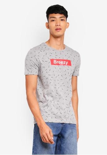 OVS 灰色 短袖印花T恤 BCCCEAA595622DGS_1