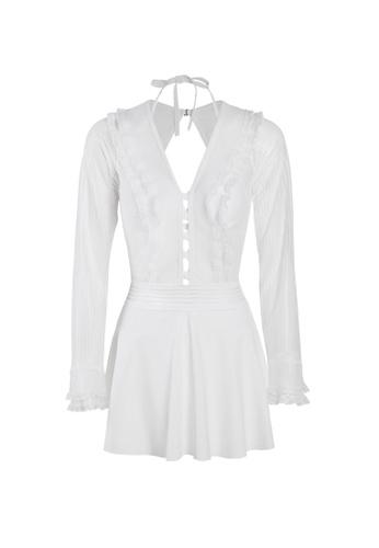 Its Me white (2PCS) Sexy Lace One-Piece Swimsuit 28E4FUS05D21DDGS_1