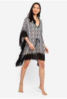 20% OFF OVS Geometric Beach Kaftan With Fringing RM 169.00 NOW RM 134.90  Sizes One Size ade975834