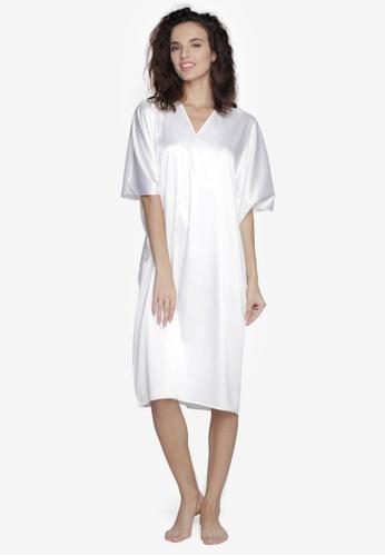 f41bee211a Shop moondaze Mary Charmeuse Satin Nightdress Online on ZALORA ...