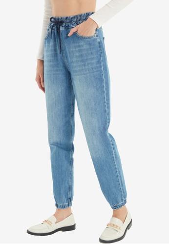 Trendyol blue Blue High Waist Jeans C80BBAA3F9BE03GS_1