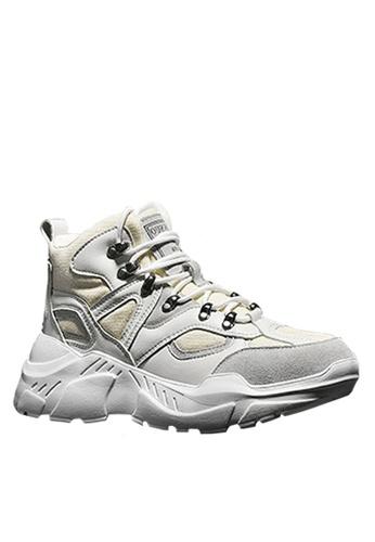 Twenty Eight Shoes beige Stylish Cow Suede Sneakers VMT1859 AC7C3SH7ECDF28GS_1