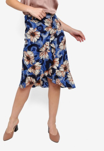 ZALORA multi and navy Asymmetric Skirt 86001AA16437CAGS_1