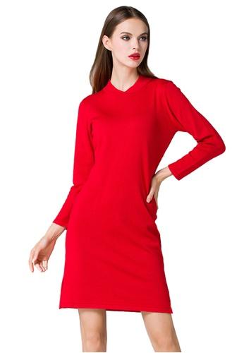 Sunnydaysweety red Red Knit Side Slit One Piece Dress K200416012 BDDC1AA1B2F06AGS_1