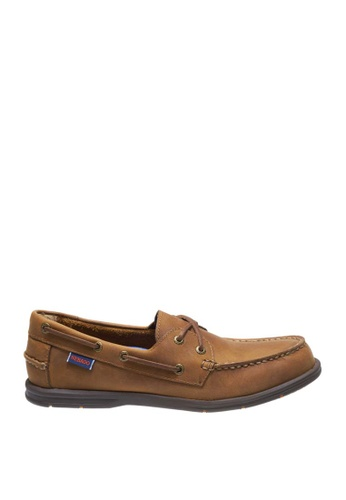 Sebago brown Litesides Two Eye Boat Shoes SE328SH0J65BPH_1