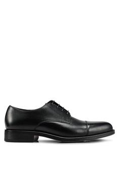 6b6d37183d5 MANGO Man black Leather Blucher Shoes 28193SHDBAE4E7GS 1
