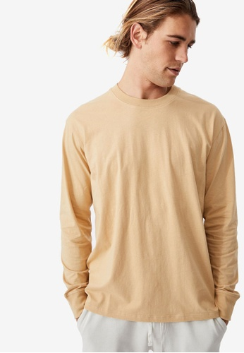 Cotton On brown and yellow and beige Tbar Long Sleeves T-Shirt 461F8AA0125638GS_1