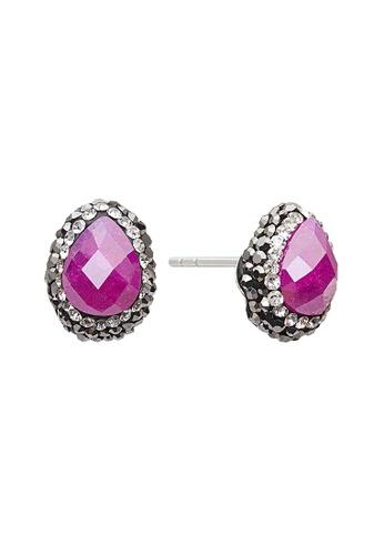 Fervor Montreal pink Fervor Montreal-Druzy Earrings Pear 5BB91AC5F304CBGS_1
