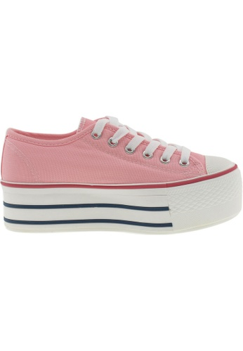Maxstar pink Maxstar Women's C50 6 Holes Platform Canvas Low Top Sneakers US Women Size MA164SH55PSESG_1