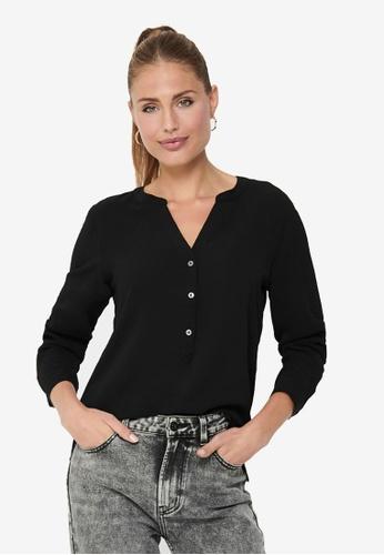 JACQUELINE DE YONG black Newtrack Long Sleeve Blouse 02CF0AAA357D0AGS_1