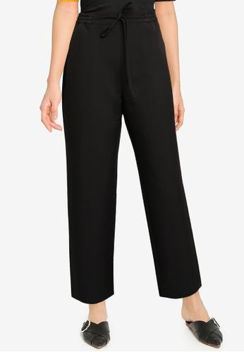 ZALORA BASICS black Drawstring Pants 8859BAADEB9B23GS_1