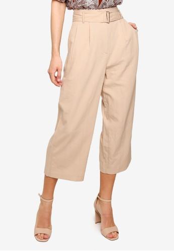 FORCAST beige Kira Belted Pants 9B9CFAA63DCDDDGS_1