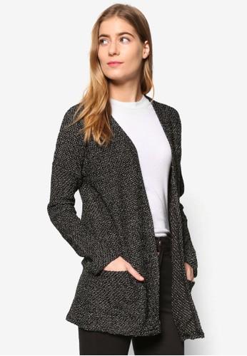 暗紋針織長版外套esprit 會員, 服飾, 外套