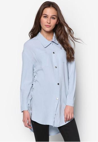 側繫esprit 台北帶長袖襯衫, 服飾, 服飾